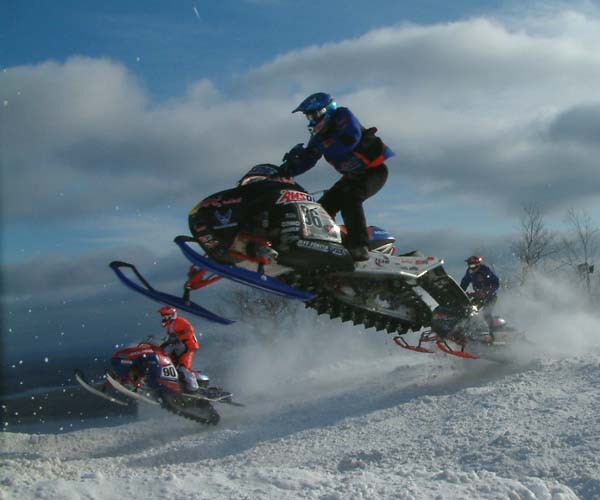 DJ Eckstrom Snowmobile Racing At Duluth National Snocross