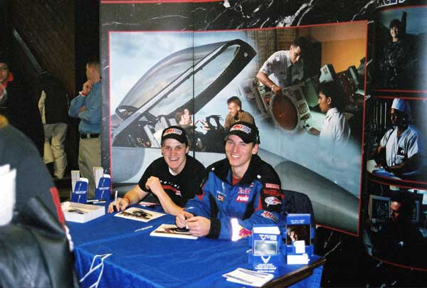 DJ Eckstrom & Carl Schubitzke Sign Autographs At Duluth National Snocross